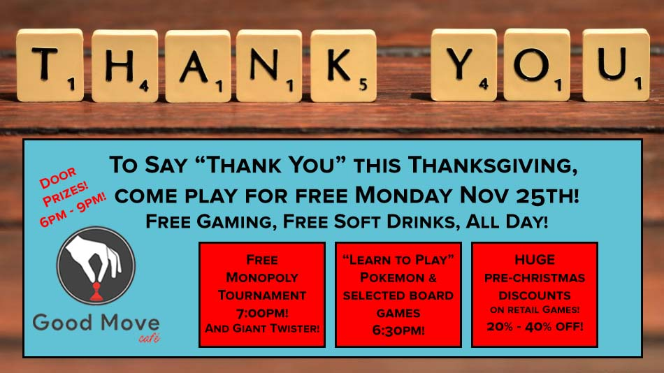 Thank You Event Free Gaming And Huge Game Sale Monday November